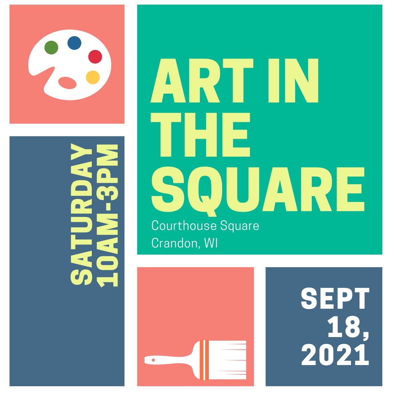 Art In The Square [September 18, 2021 10:00 Am - September 18, 2021 3:00 Pm] - Event Registration September 2021 Events