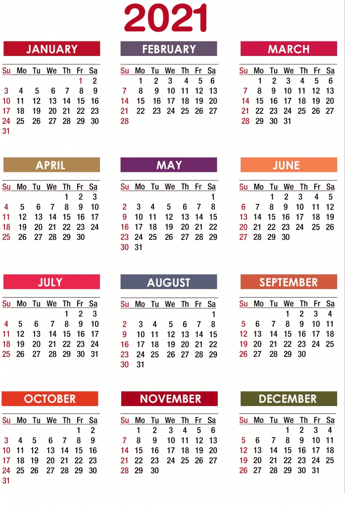 Best 2021 Yearly Calendar Next Year August Calendar 2021