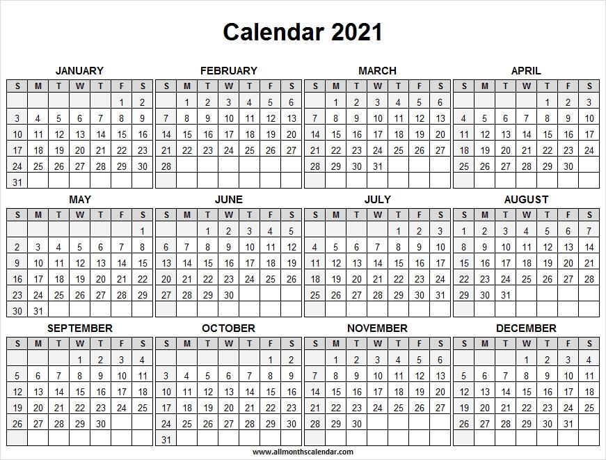 Calendar 2021 Full Year Free - Free Printable Calendar 2021 Yearly Next Year August Calendar 2021
