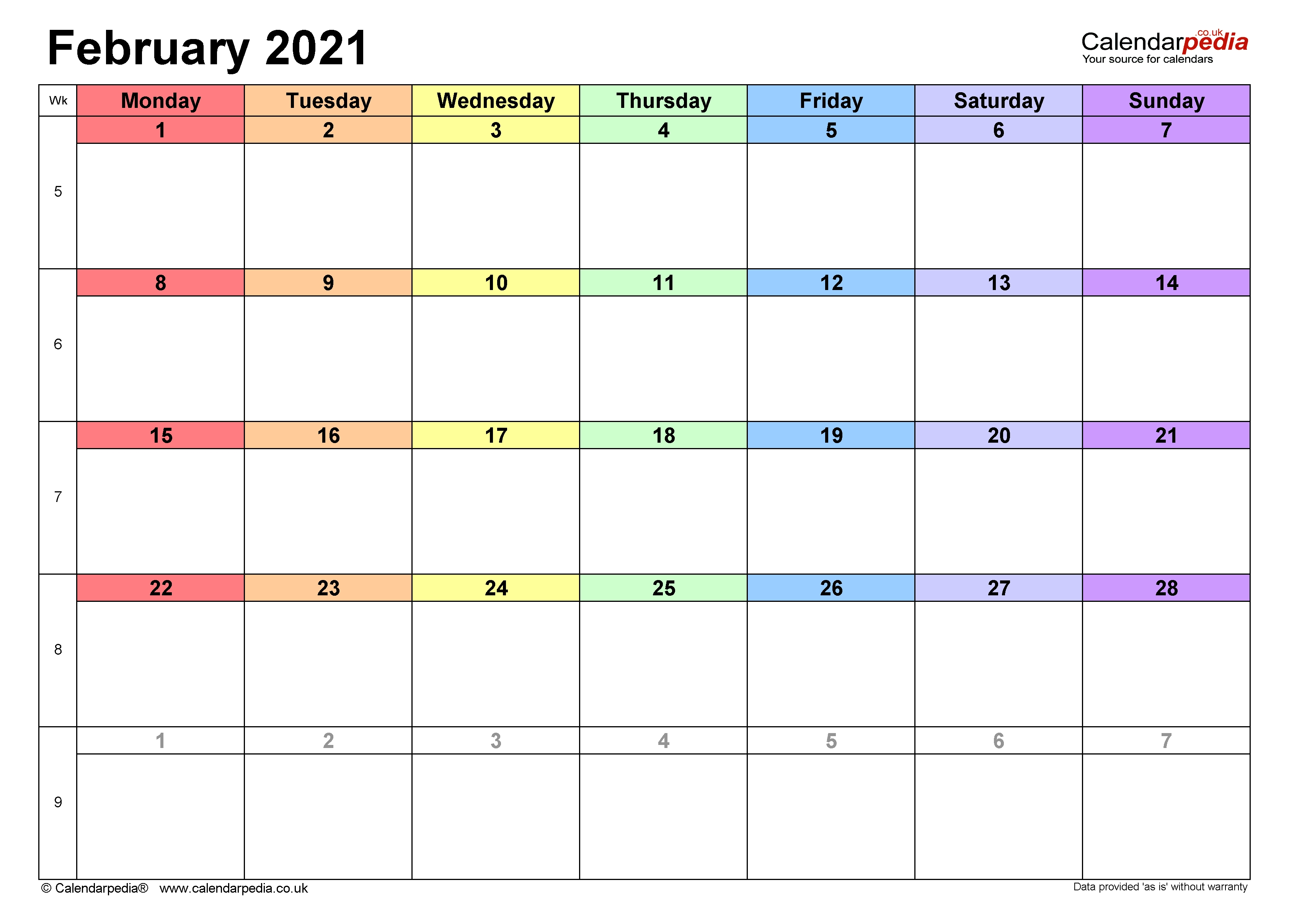 Calendar February 2021 Uk With Excel, Word And Pdf Templates February To July 2021 Calendar