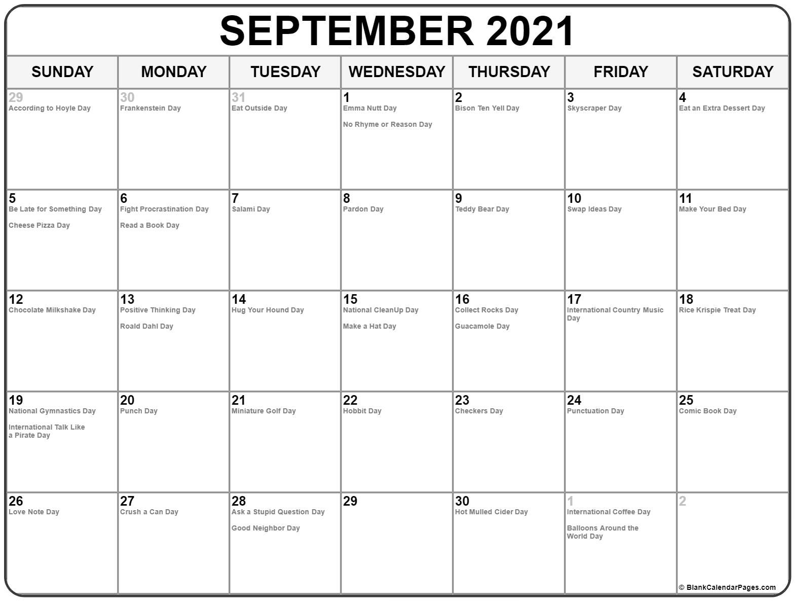 Collection Of September 2021 Calendars With Holidays Canada September 2021 Calendar