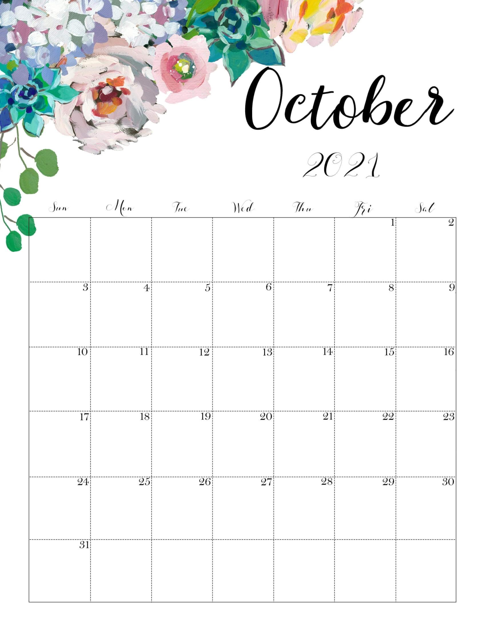 Cute October 2021 Calendar Desk & Wall - Time Management Tips & Tools Cute October 2021 Calendar October 2021 Calendar Cute
