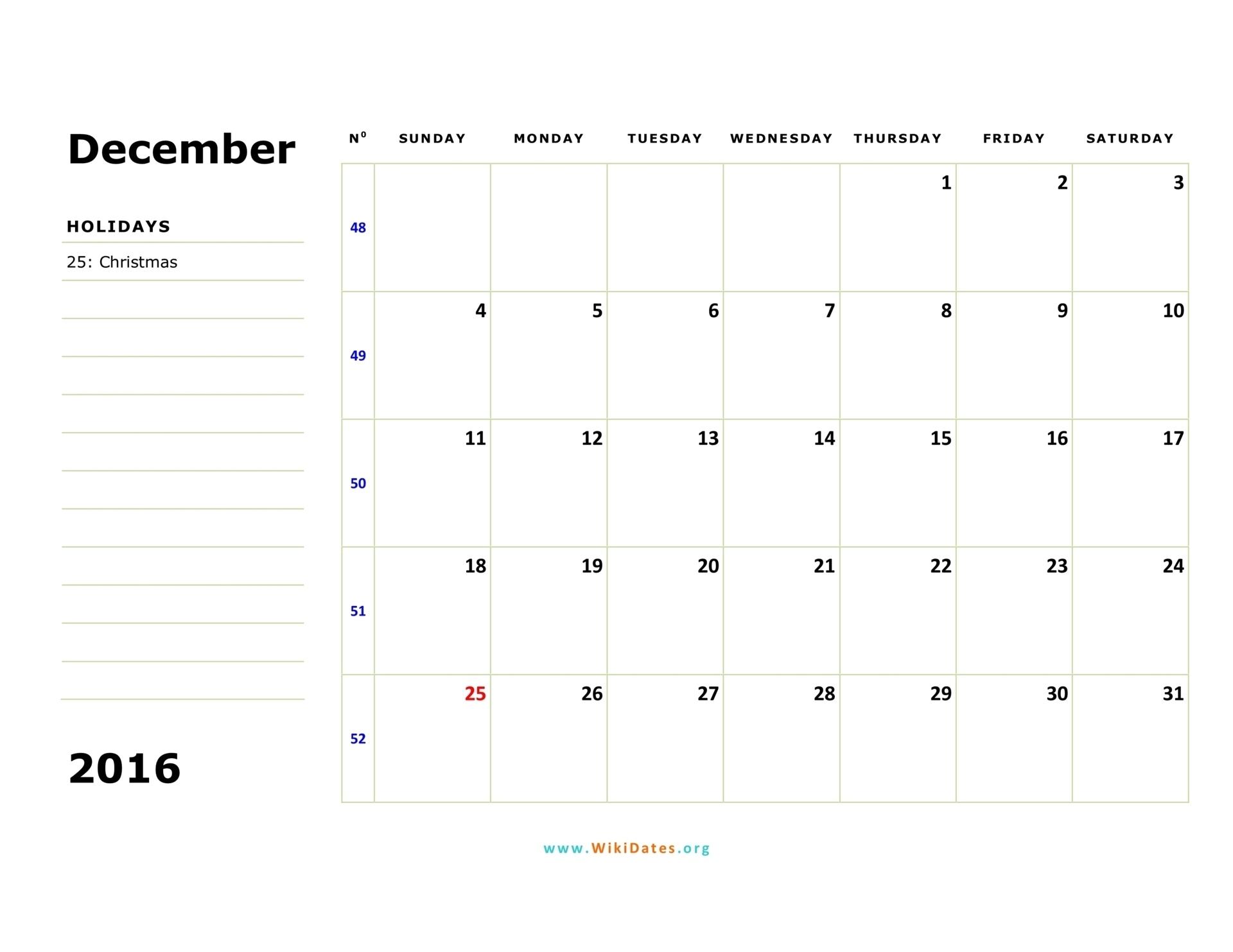 December 2016 Calendar | Wikidates General Blue August 2021 Calendar
