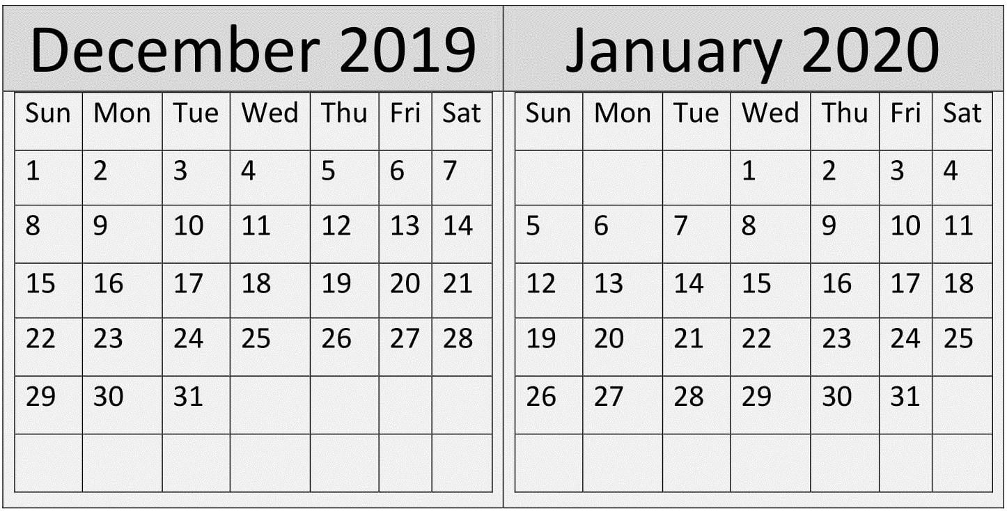 December 2020 Julian Date | Calendar Template Printable Monthly Yearly Calendar December 2020 January 2021