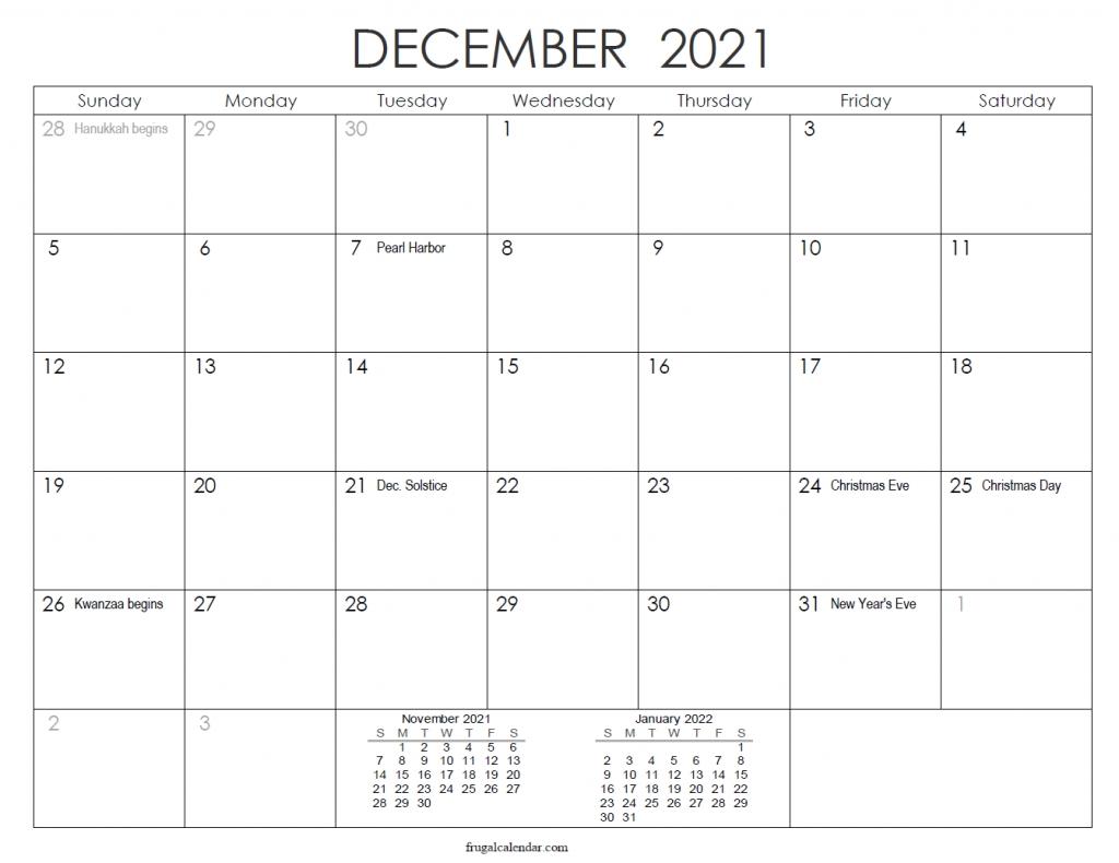 December Calendar 2021   2021 Calendars Printable Editable December 2021 Calendar