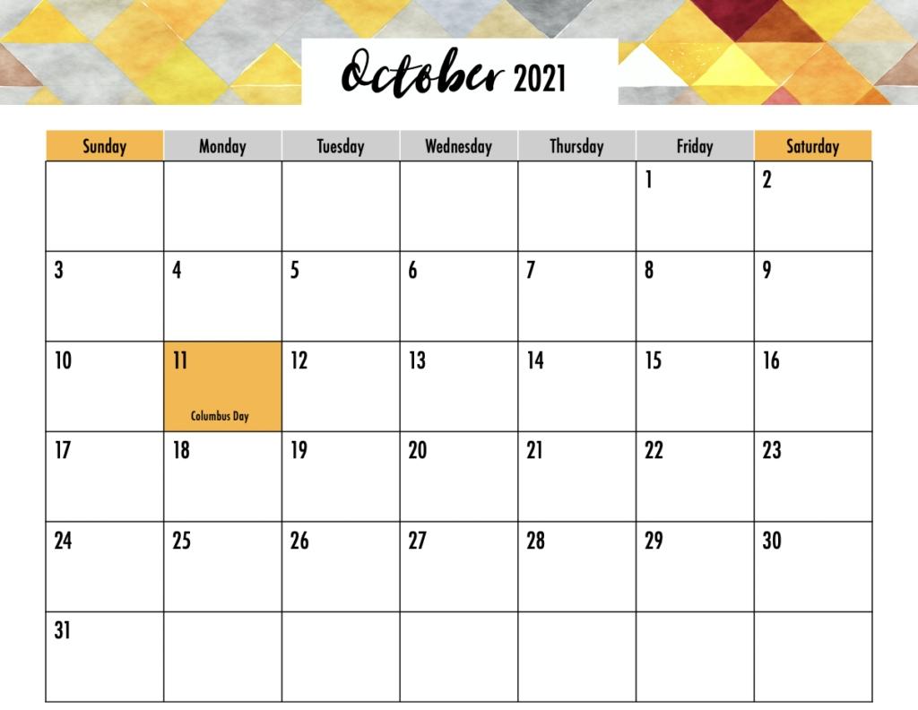 Editable 2021 Calendar Printable - Gogo Mama Printable Calendar October 2020 To September 2021