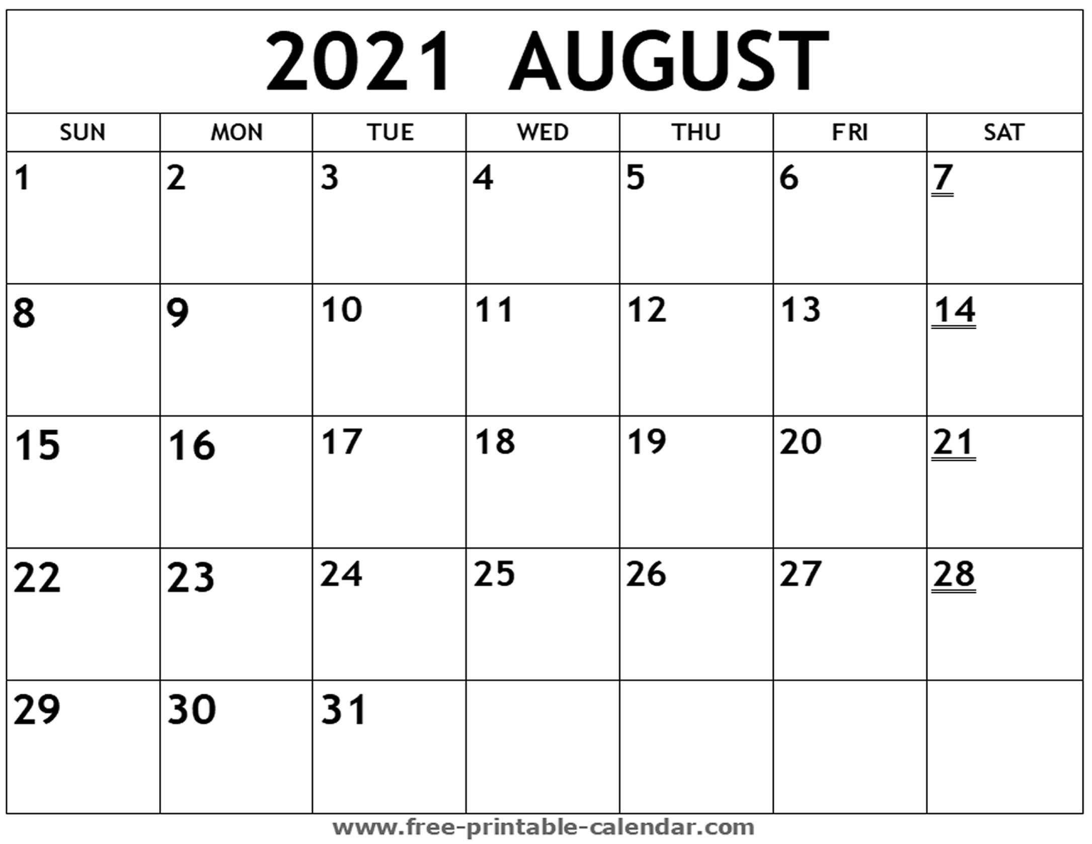 Editable Calendar For August 2021 | Month Calendar Printable Printable Calendar August 2020 To May 2021