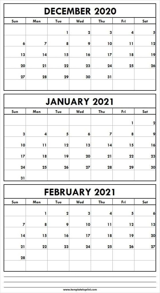 Editable December 2020 To February 2021 Calendar - Tumblr Editable December 2021 Calendar