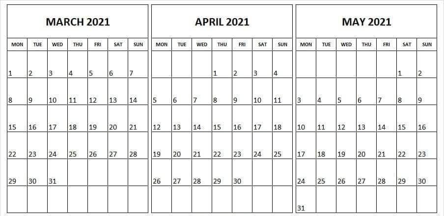 Editable March April May 2021 Calendar Printable In 2021   Calendar Printables, December January Editable December 2021 Calendar