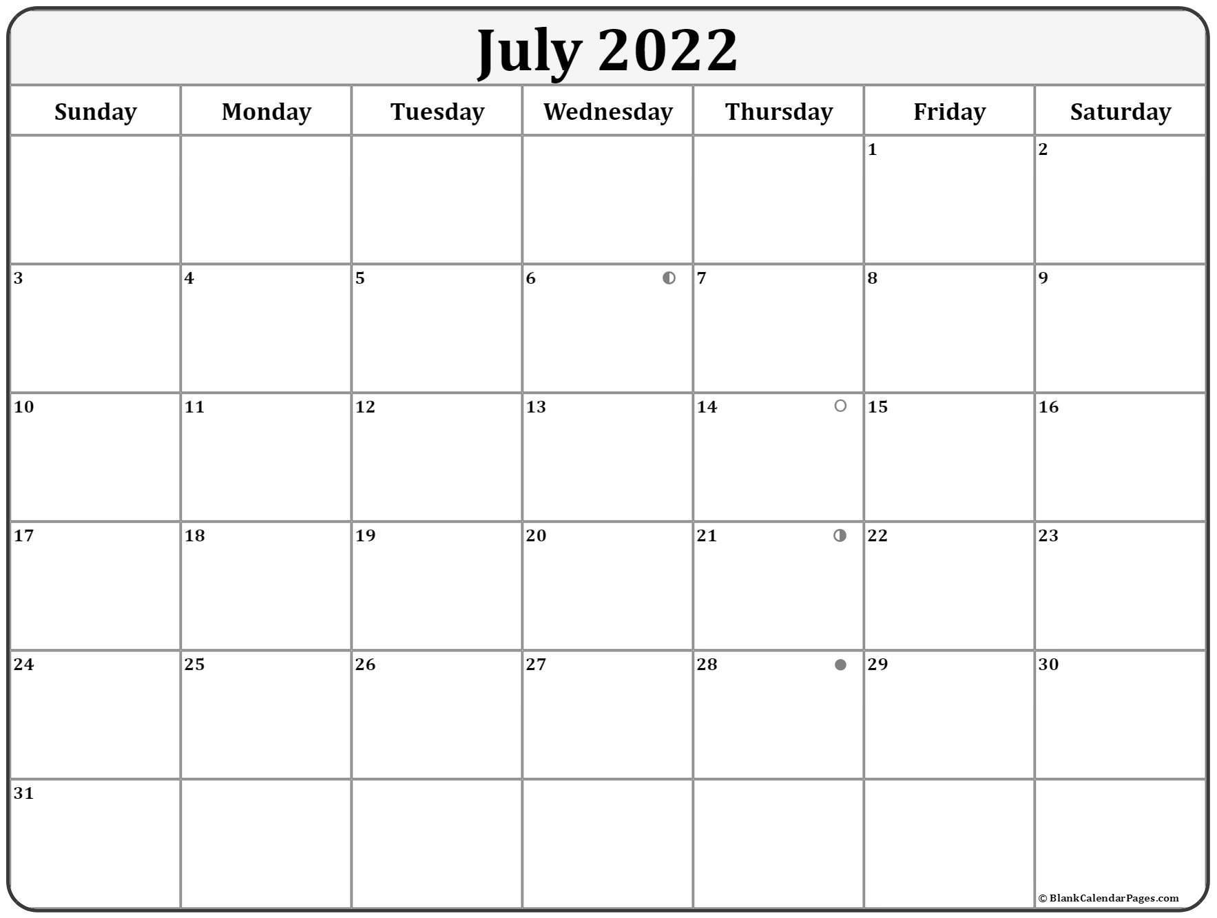 February 2021 Full Moon Phases Calendar - Calendar 2020 July 2021 Lunar Calendar
