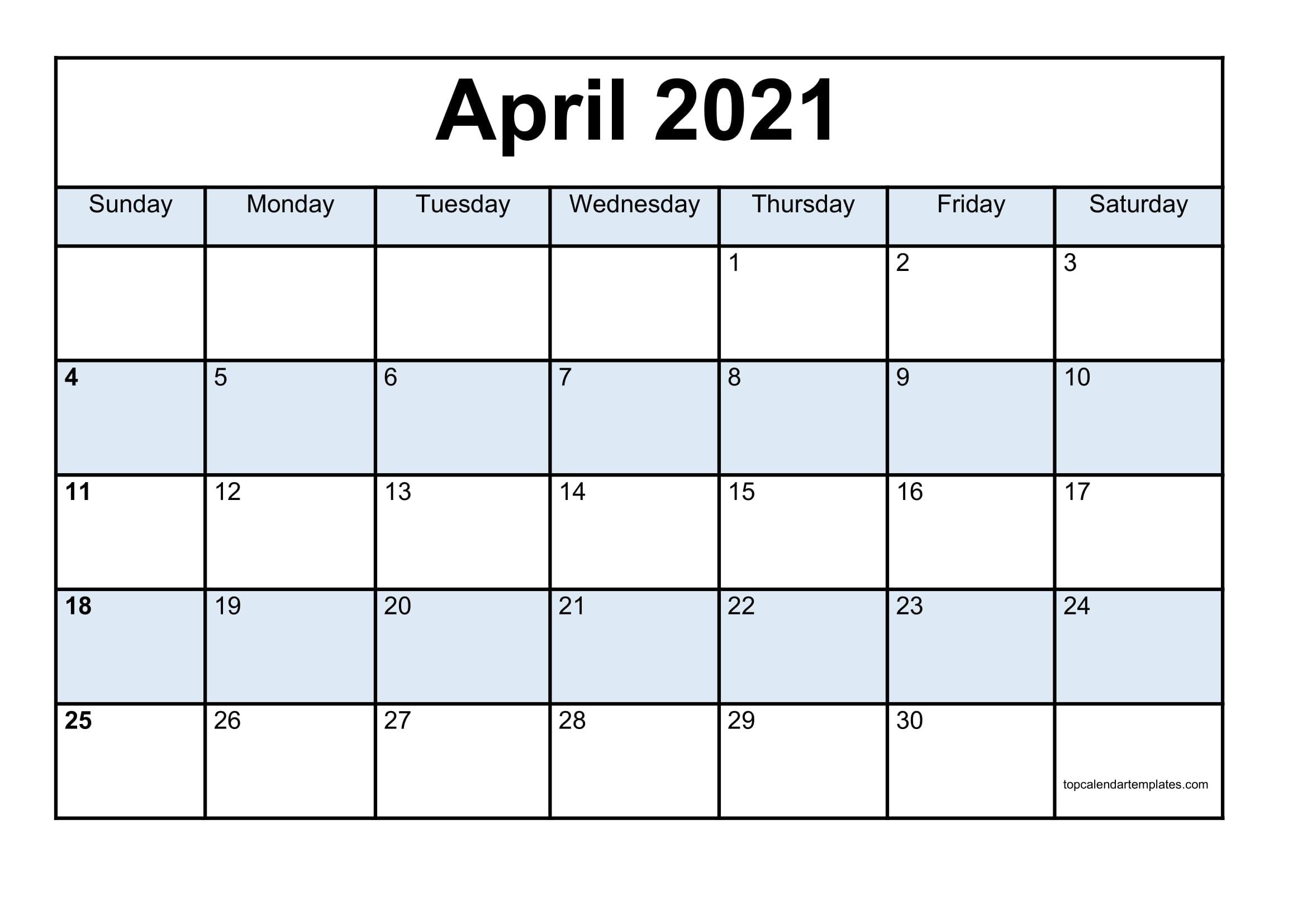 Free April 2021 Printable Calendar In Editable Format Editable December 2021 Calendar