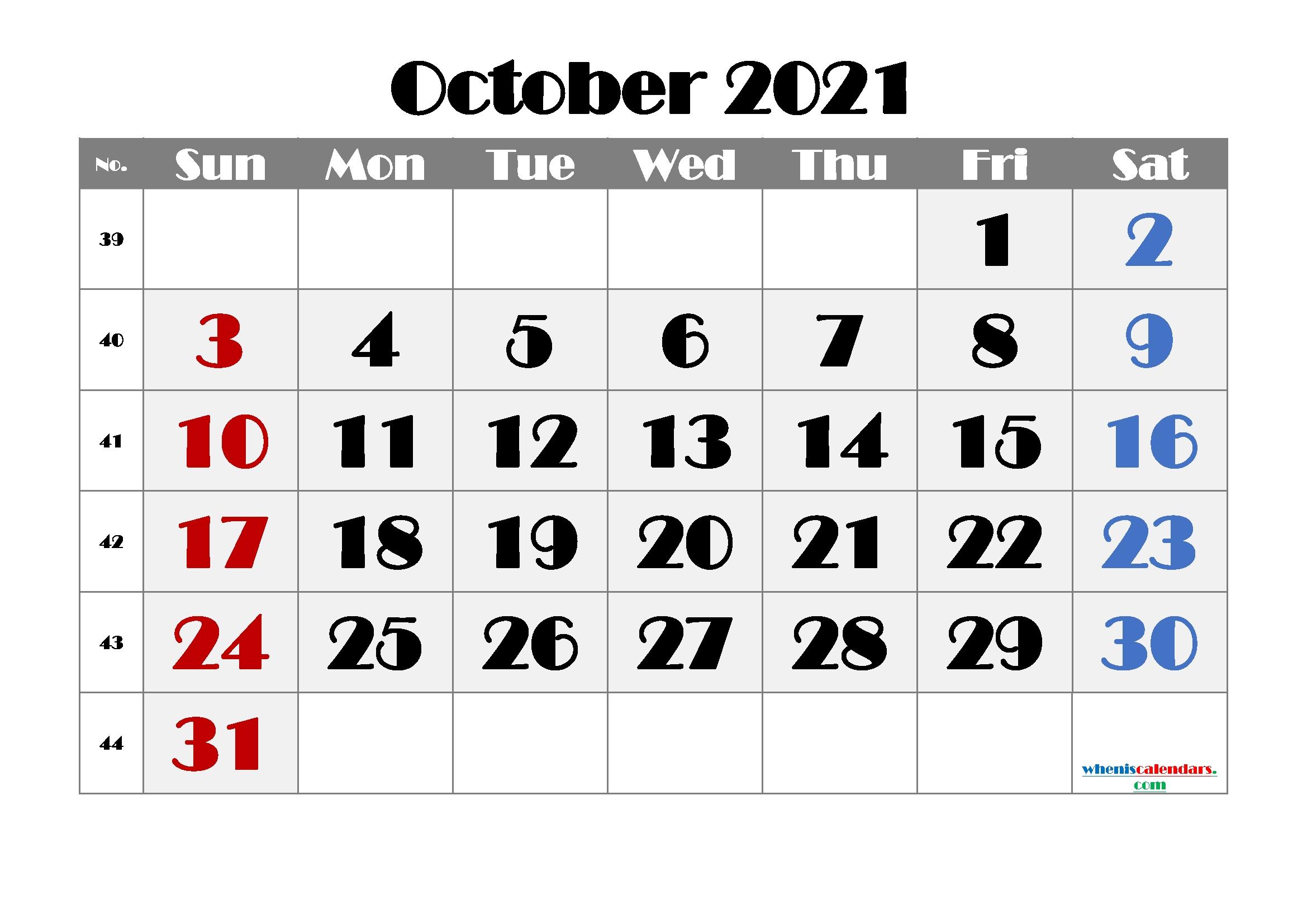 Free Printable Calendar October 2021 2022 And 2023 October 2021 Calendar Cute