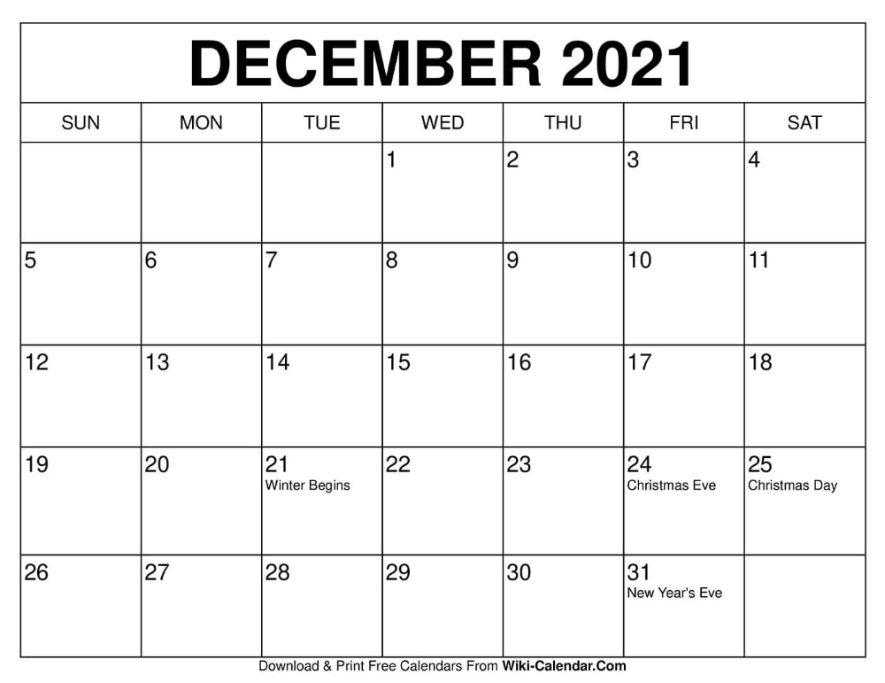 Free Printable December 2020 Calendars In 2020 | 2020 Calendar Template, 2021 Calendar, December July 2020 To December 2021 Calendar