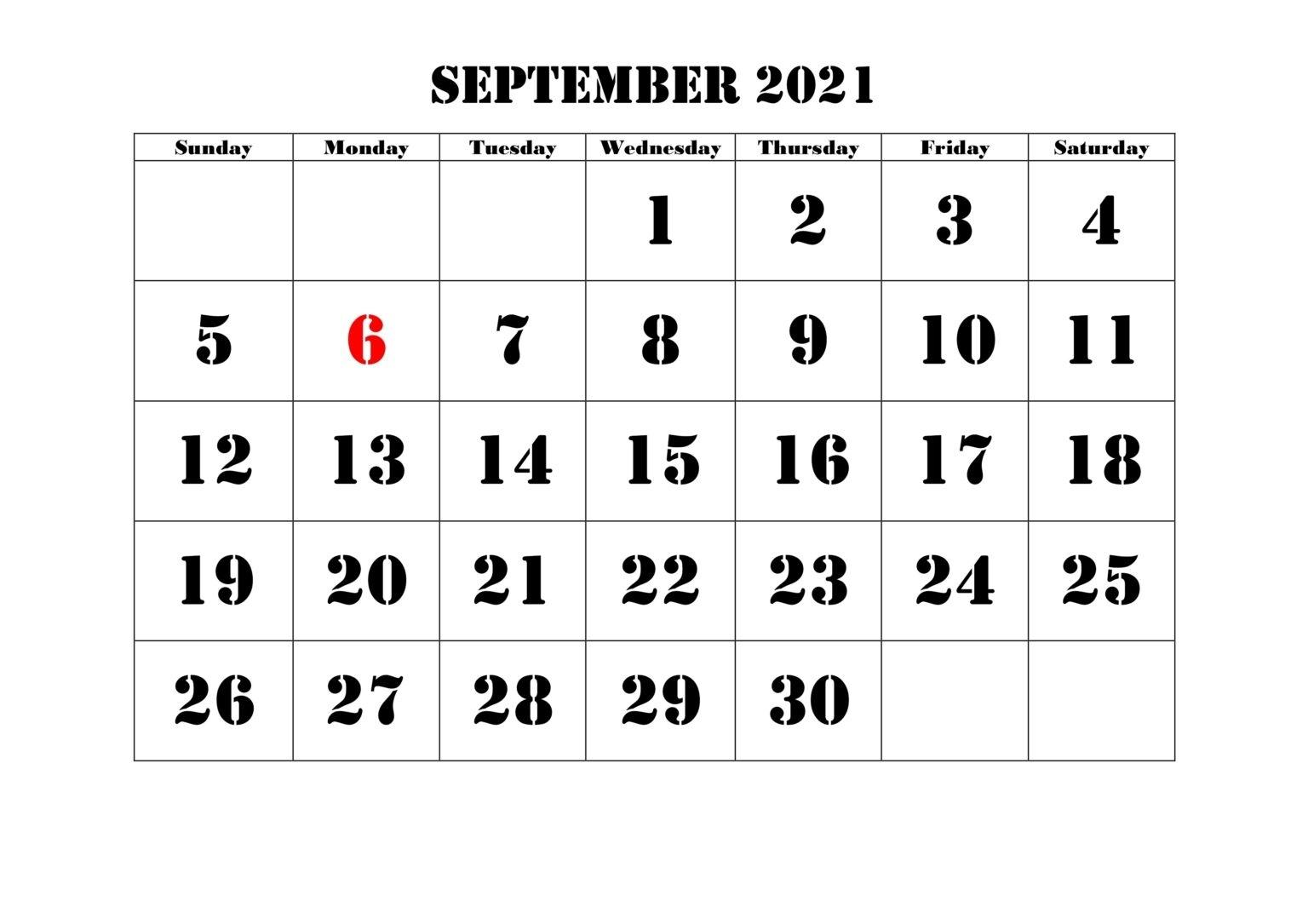 Free September 2021 Calendar Printable - Blank Templates September - December 2021 Calendar