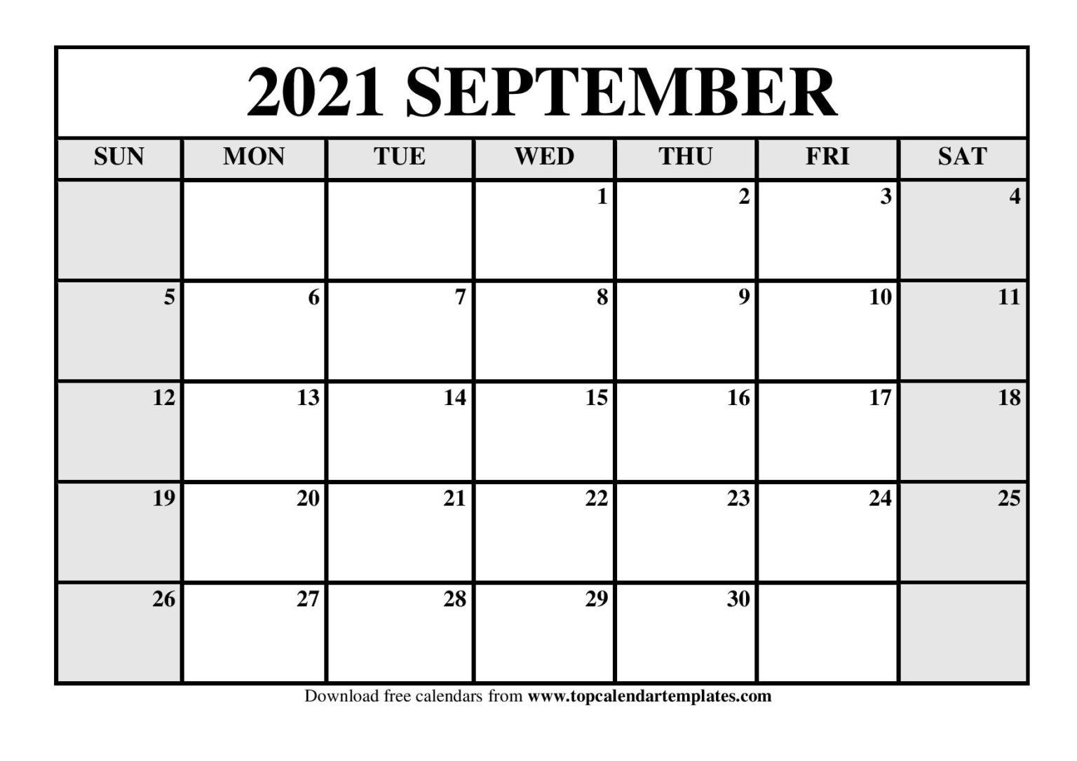 Free September 2021 Calendar Printable (Pdf, Word) Templates September 2021 Calendar Pdf