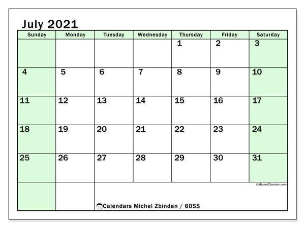 July 2021 Calendars - Ss - Michel Zbinden En General Blue August 2021 Calendar