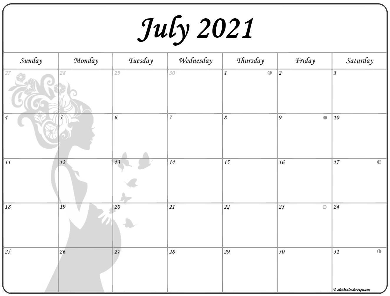 July 2021 Pregnancy Calendar | Fertility Calendar July 2020 To December 2021 Calendar