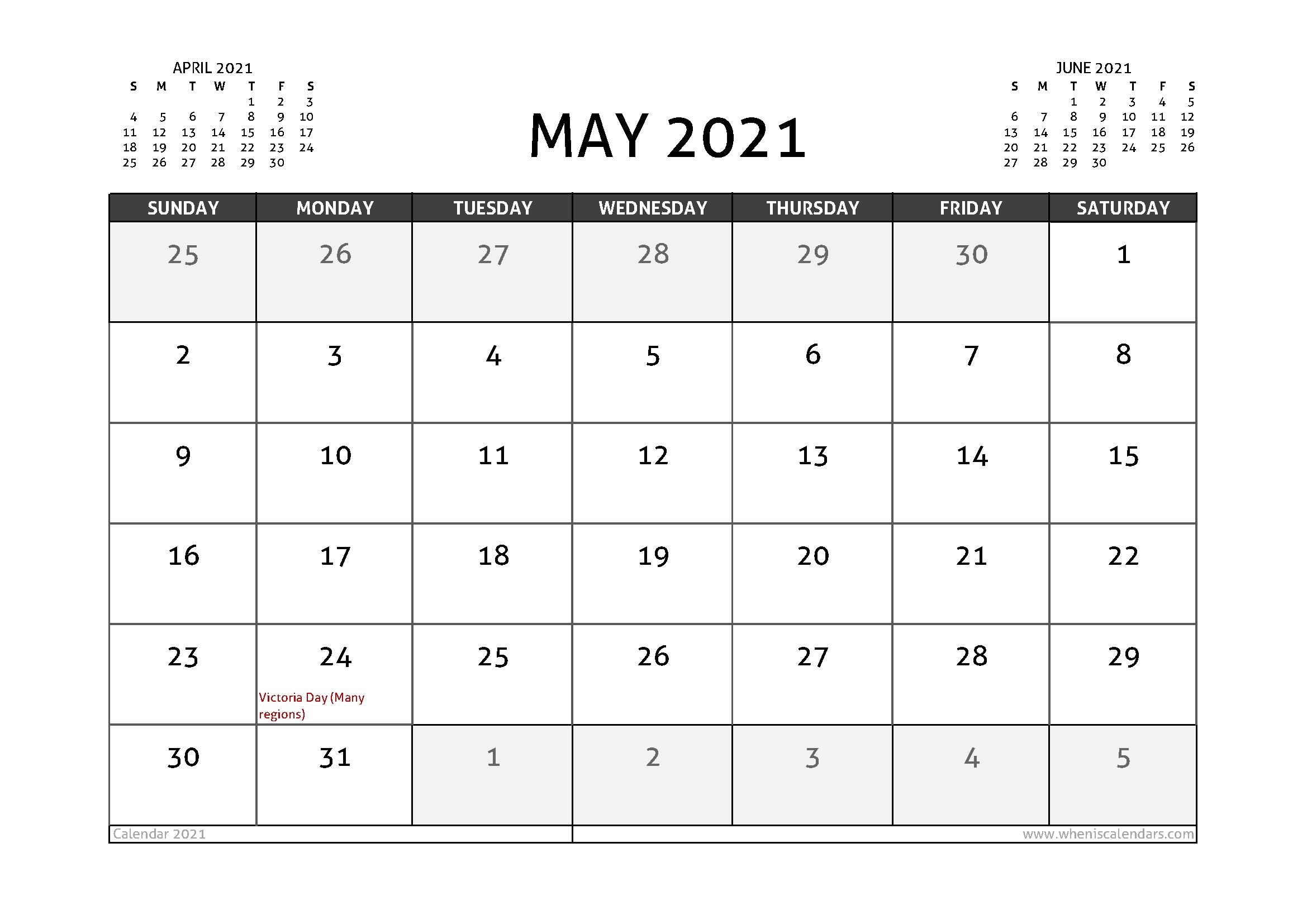 May 2021 Printable Calendar Canada | Free Printable Calendar Canada September 2021 Calendar