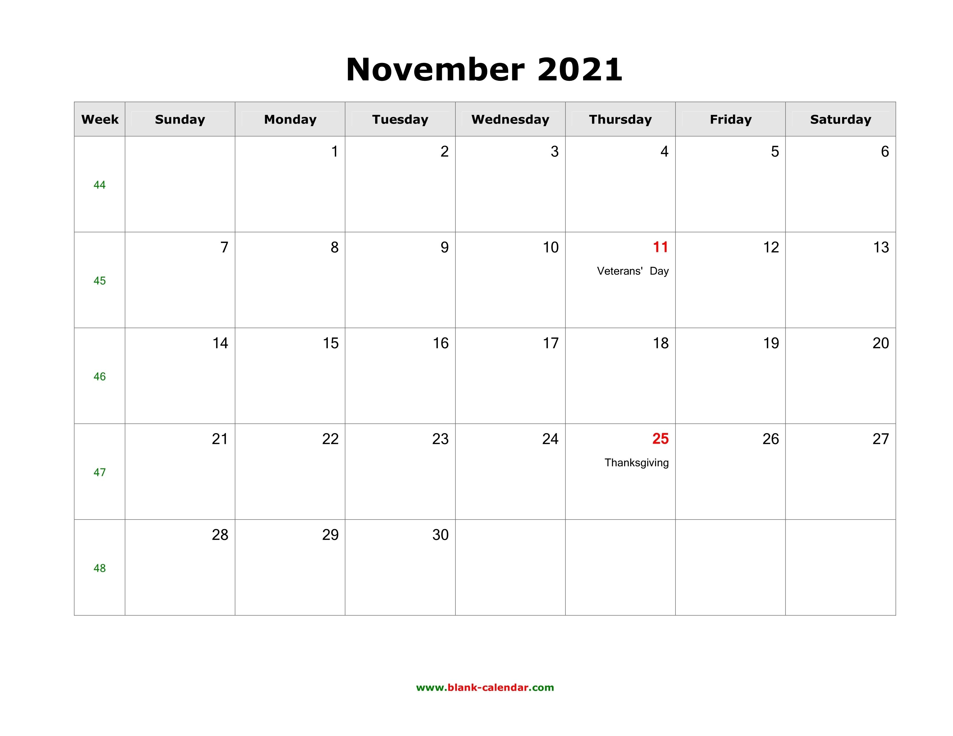 November 2021 Blank Calendar | Free Download Calendar Templates November 2021 Calendar Quiz