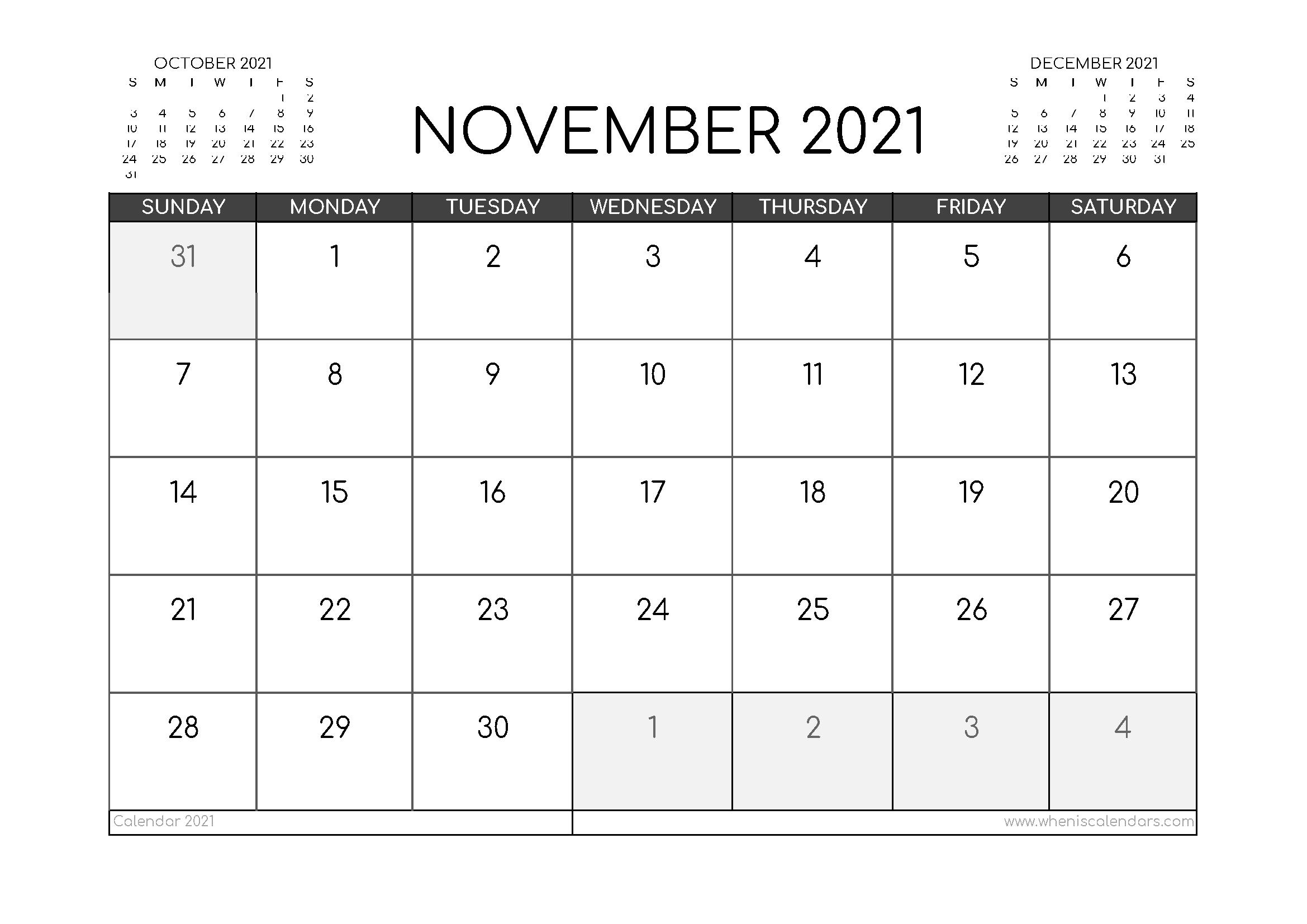 November 2021 Calendar Australia Printable   Free Printable Calendar Printable Calendar For November 2021
