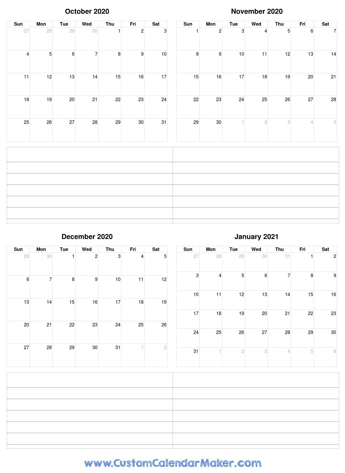October 2020 Printable Calendars - Blank Pdf Templates Printable Calendar October 2020 To September 2021