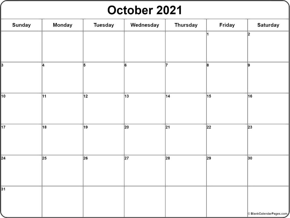 October 2021 Calendar   Free Printable Monthly Calendars   Calendar Printables, August Calendar October 2021 Calendar Cute