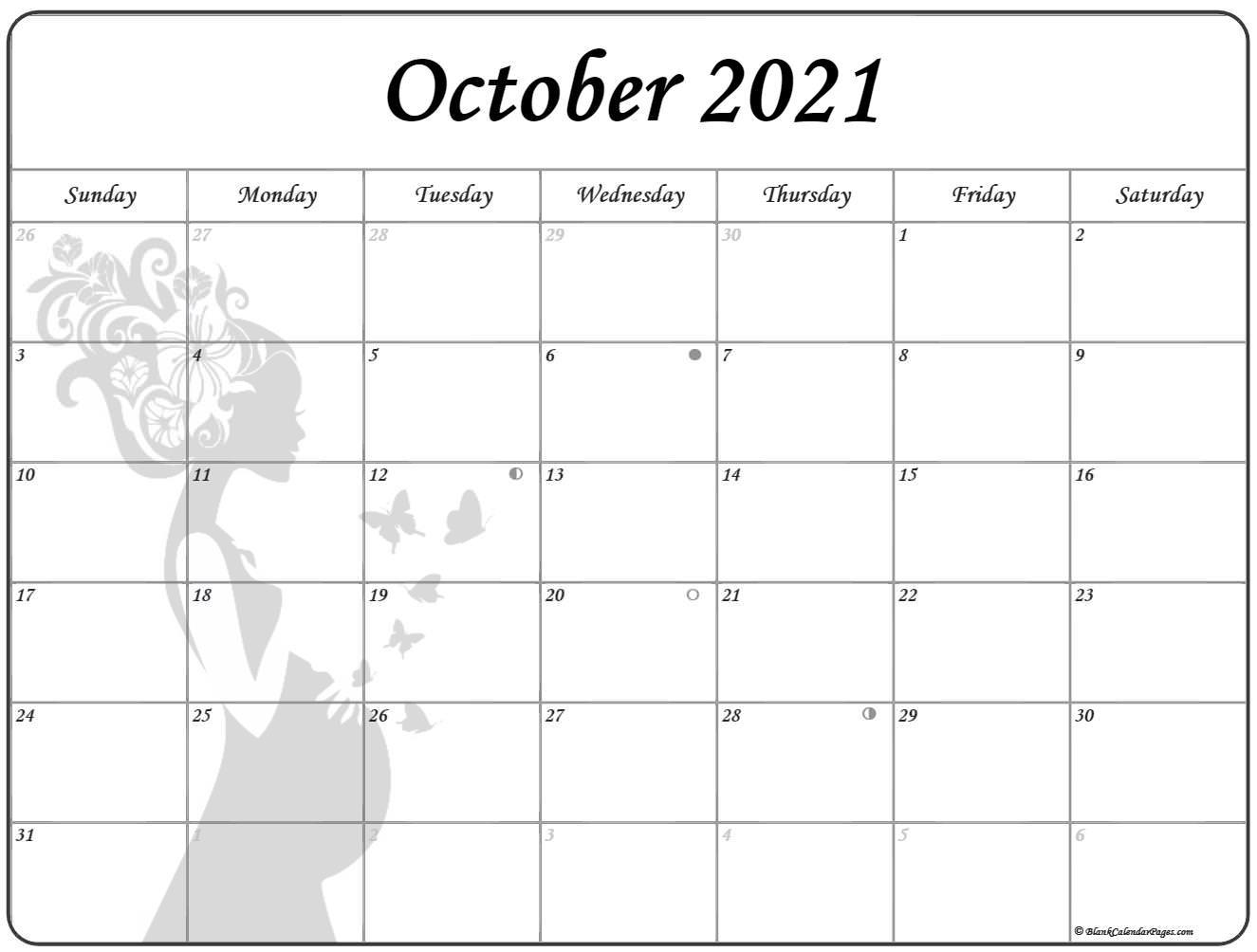 October 2021 Pregnancy Calendar   Fertility Calendar Printable Calendar October 2020 To September 2021