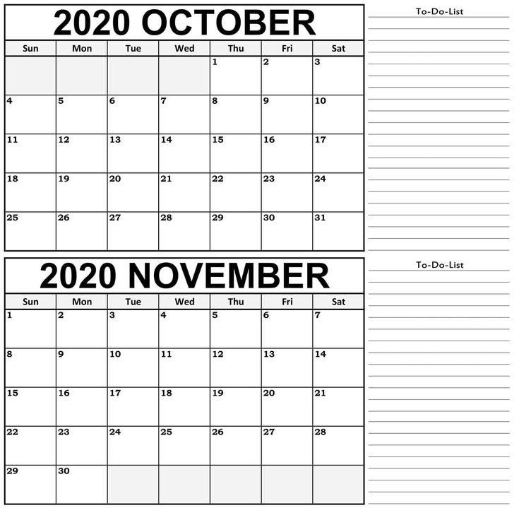 October November 2020 Calendar With Notes   January 2021 Calendar Template, Calendar Template October 2020 To January 2021 Calendar