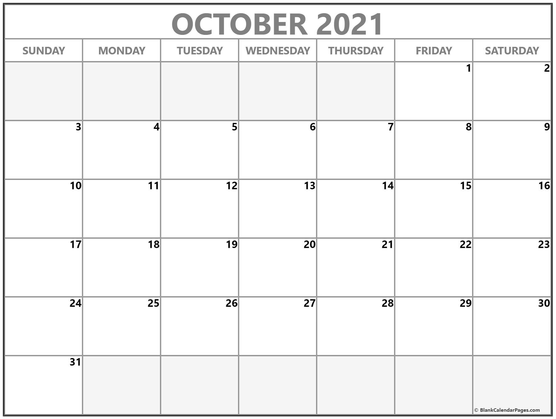 Printable Calendar October 2021 Free : 24+ October 2021 Quote Calendars - Doesn'T Get Easier October 2020 To January 2021 Calendar