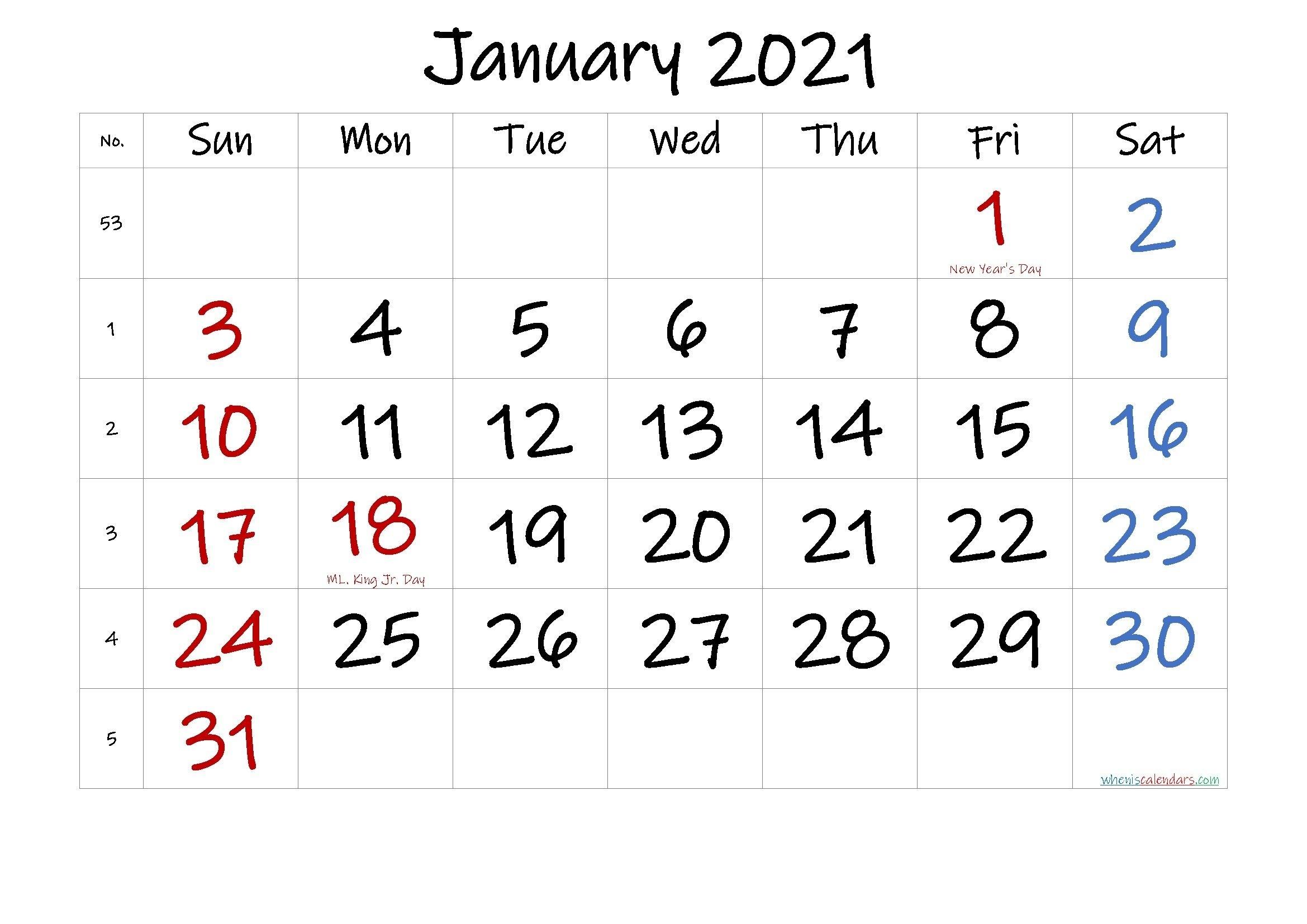 Printable December 2020 January 2021 Calendar | Free Printable Calendar Calendar December 2020 January 2021