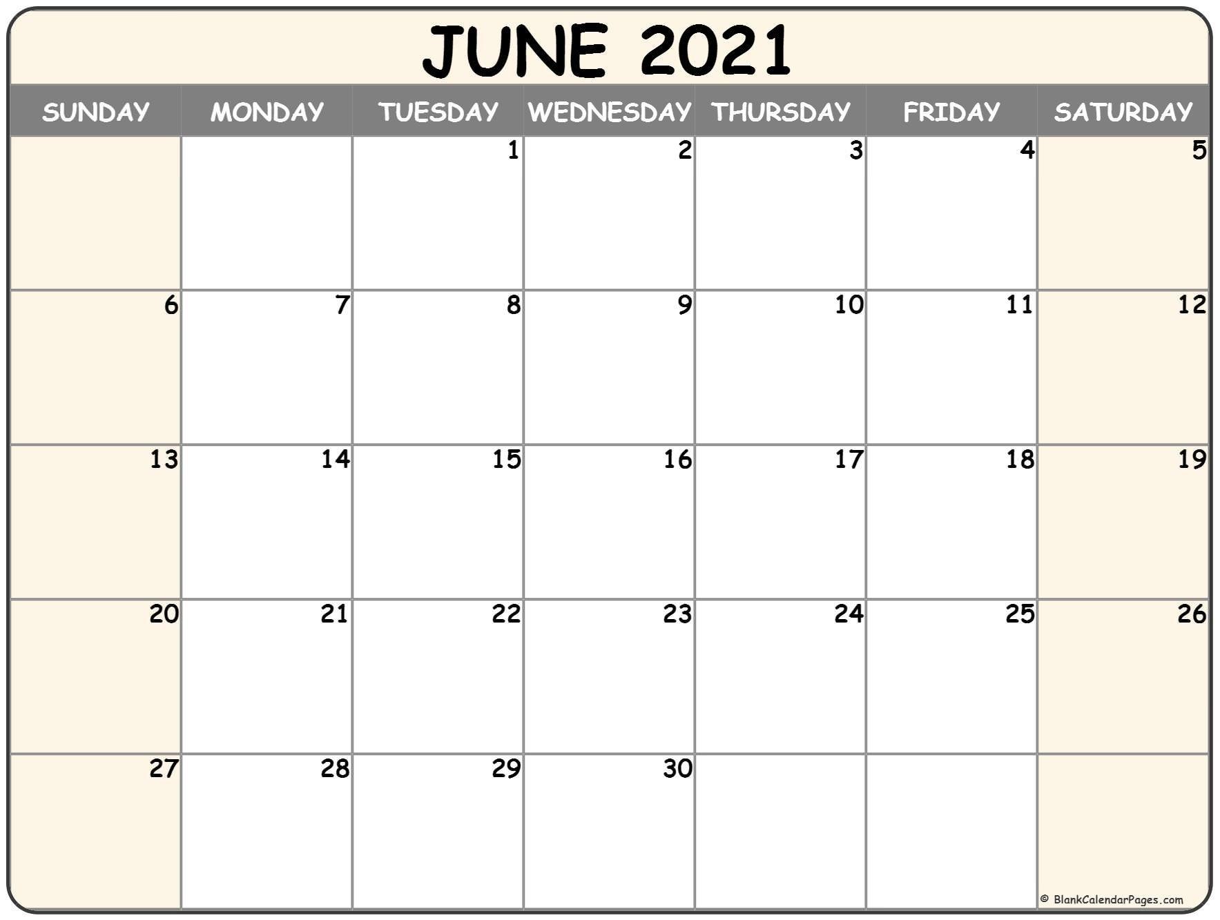 Sepetember 2021 Calendar With Big Numbers   Calendar Template Printable June 2021 Blank Calendar Printable