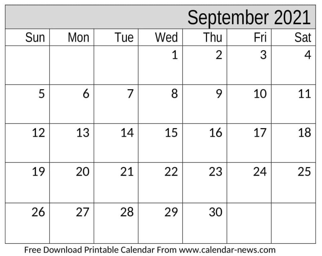 September 2021 Calendar For Pdf, Word, And Excel September 2021 Calendar Pdf
