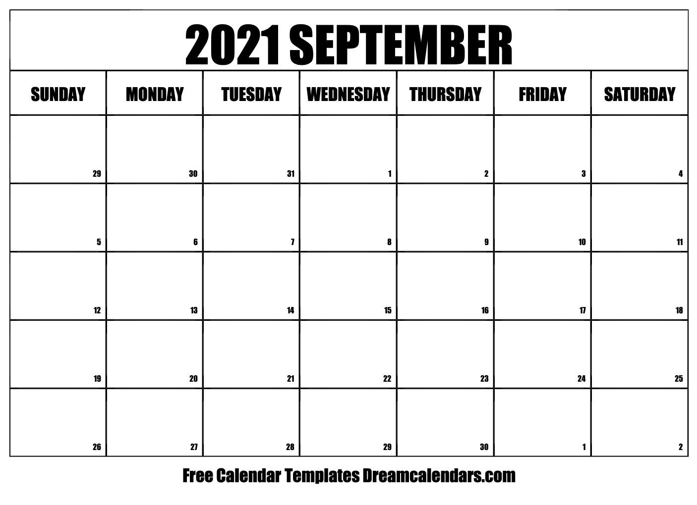 September 2021 Calendar | Free Blank Printable Templates Printable Calendar September 2020 To September 2021