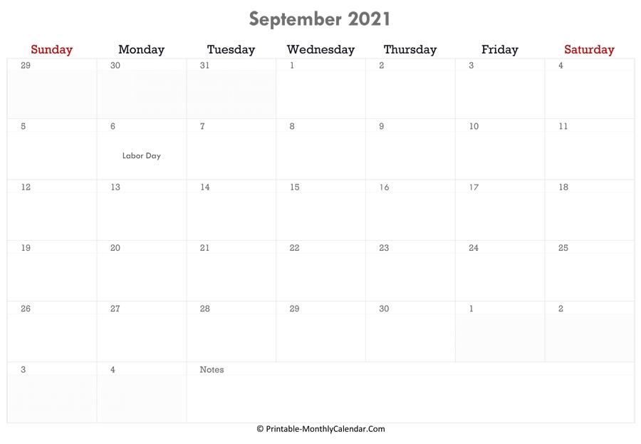 September 2021 Calendar Printable With Holidays Canada September 2021 Calendar