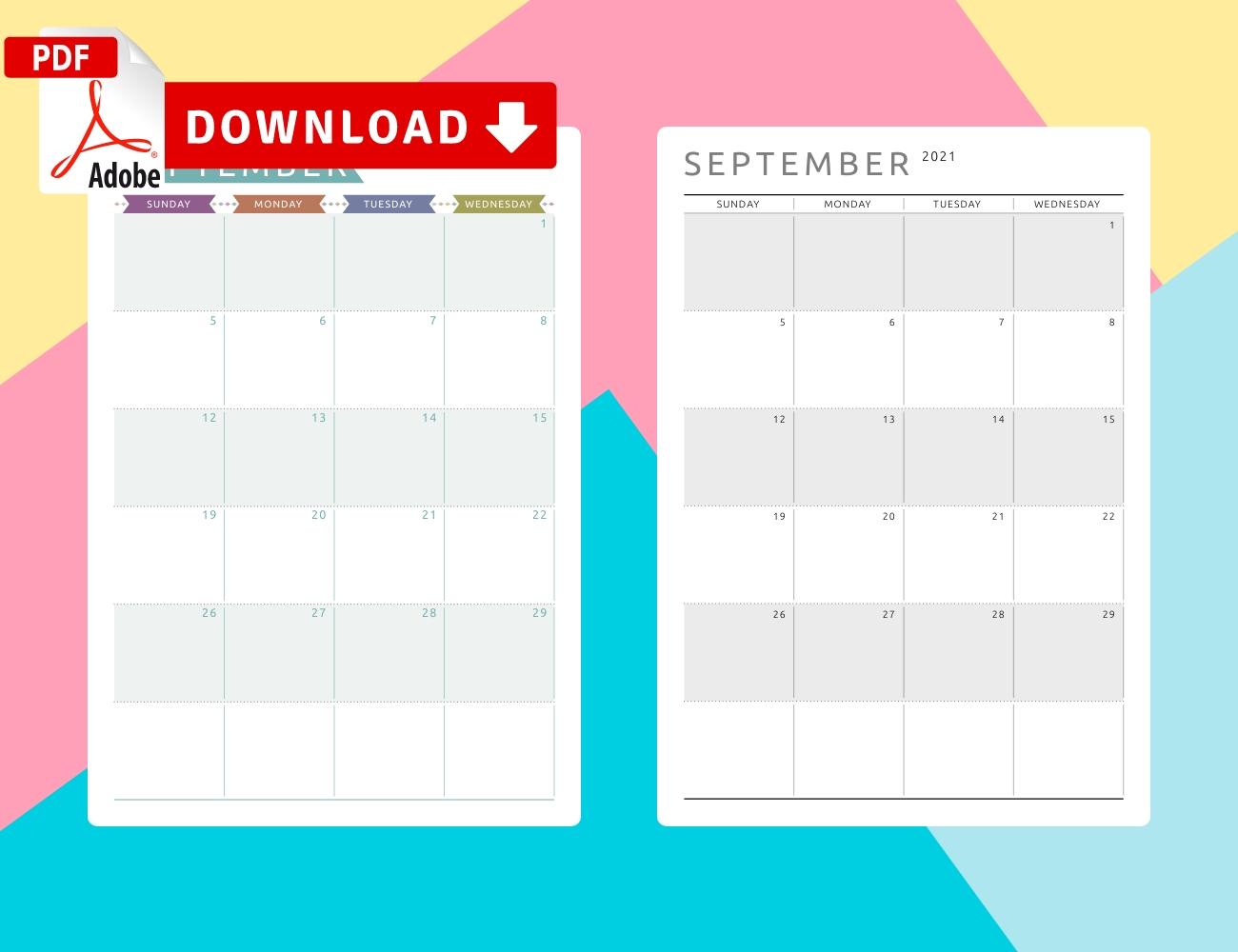 September 2021 Calendar Templates - Download Pdf September 2021 Calendar Template