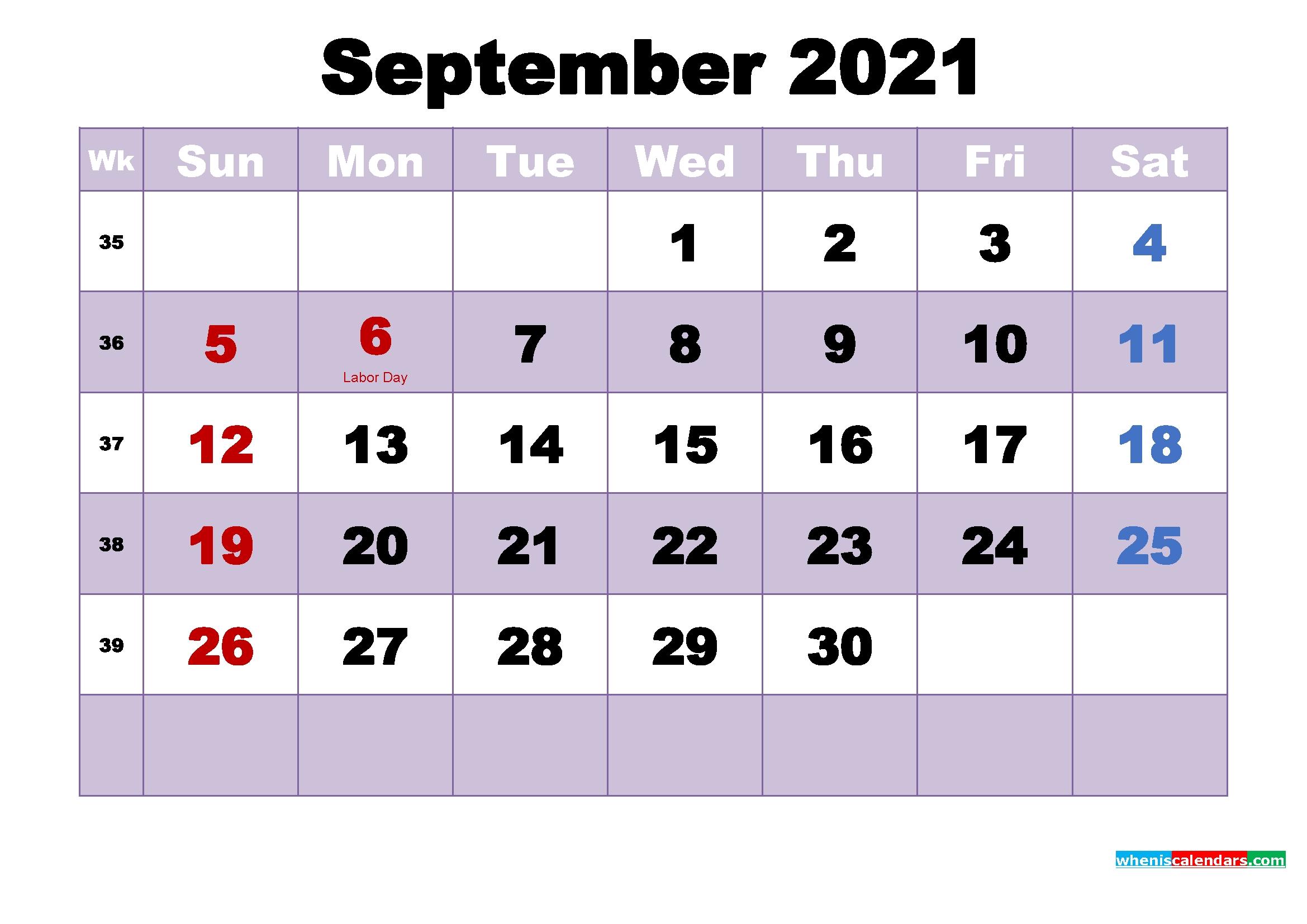 September 2021 Desktop Calendar High Resolution September - December 2021 Calendar