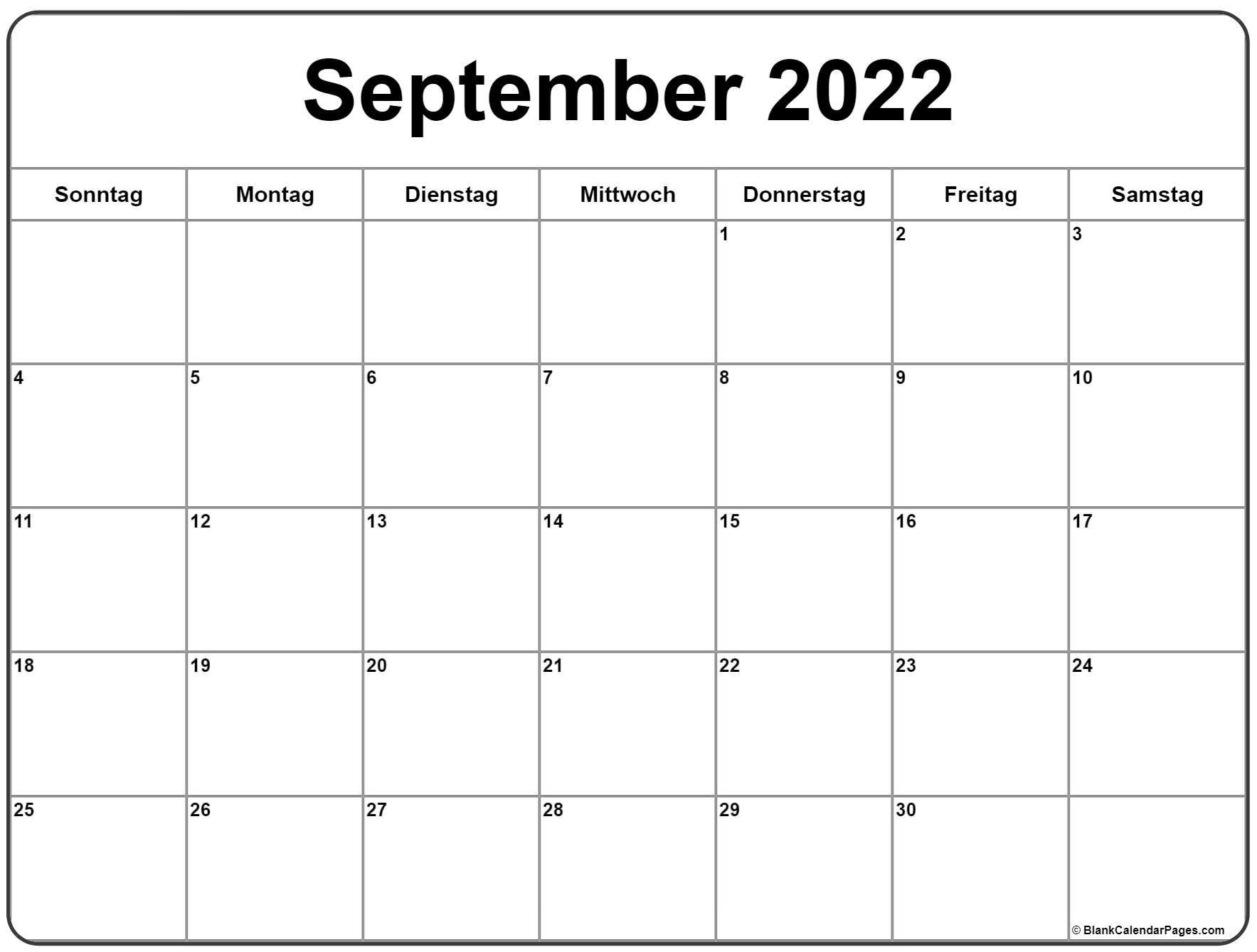 September 2022 Kalender | Kalender 2022 General Blue August 2021 Calendar