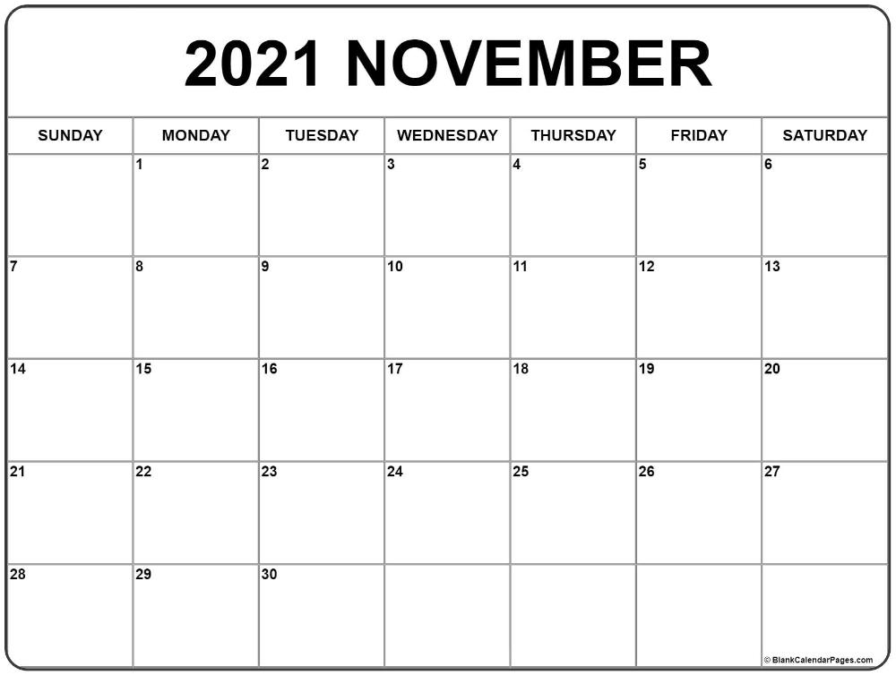 20+ November 2021 Calendar - Free Download Printable 2021 Ka Calendar November