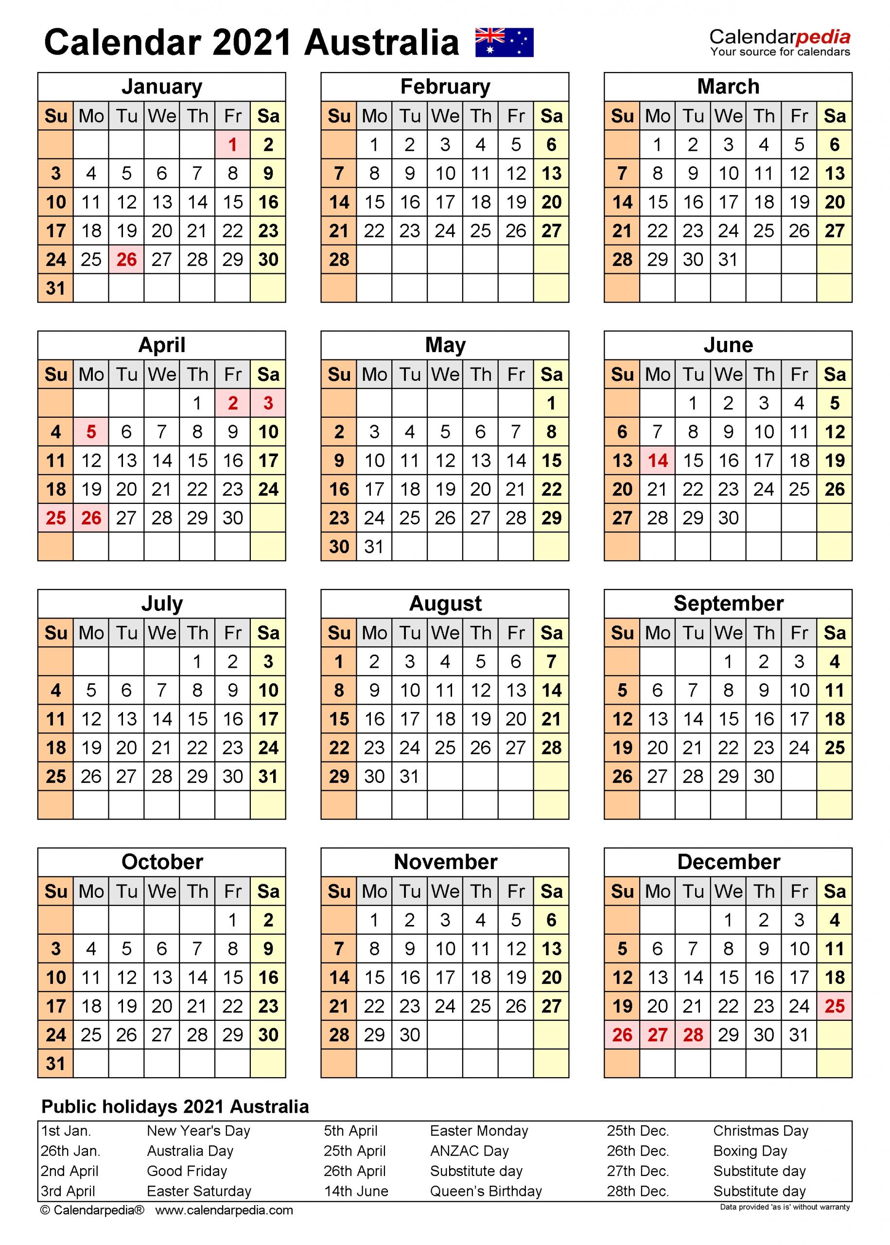 2021 Financial Year Dates Australia - Template Calendar Design December 2020 January 2021 Calendar Australia
