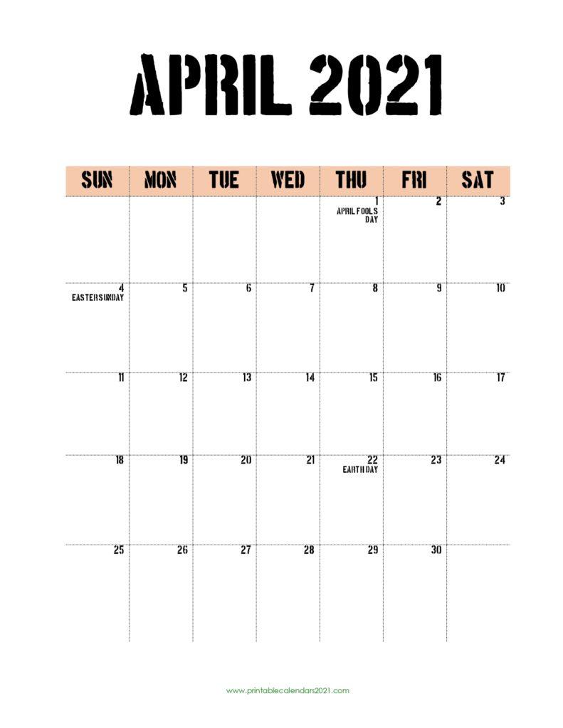 65+ Printable Calendar 2022 April With Holidays, April Show December 2021 Calendar