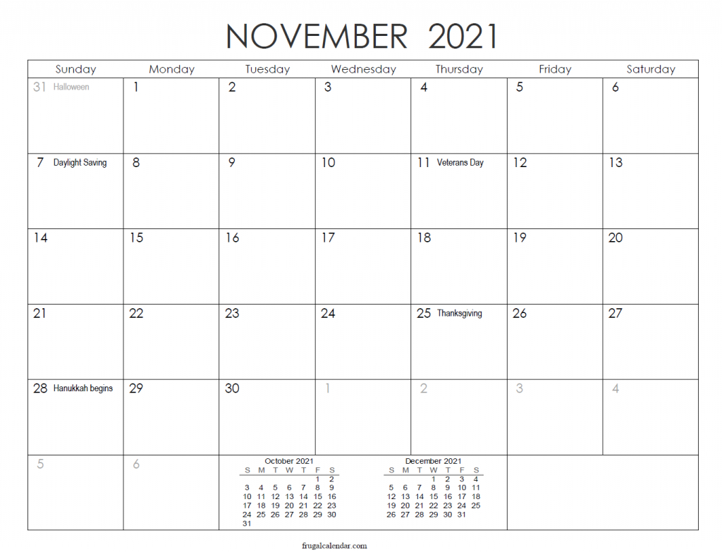 Calendar November 2021 - Print November 2020 To April 2021 Calendar November 2020 Through April 2021
