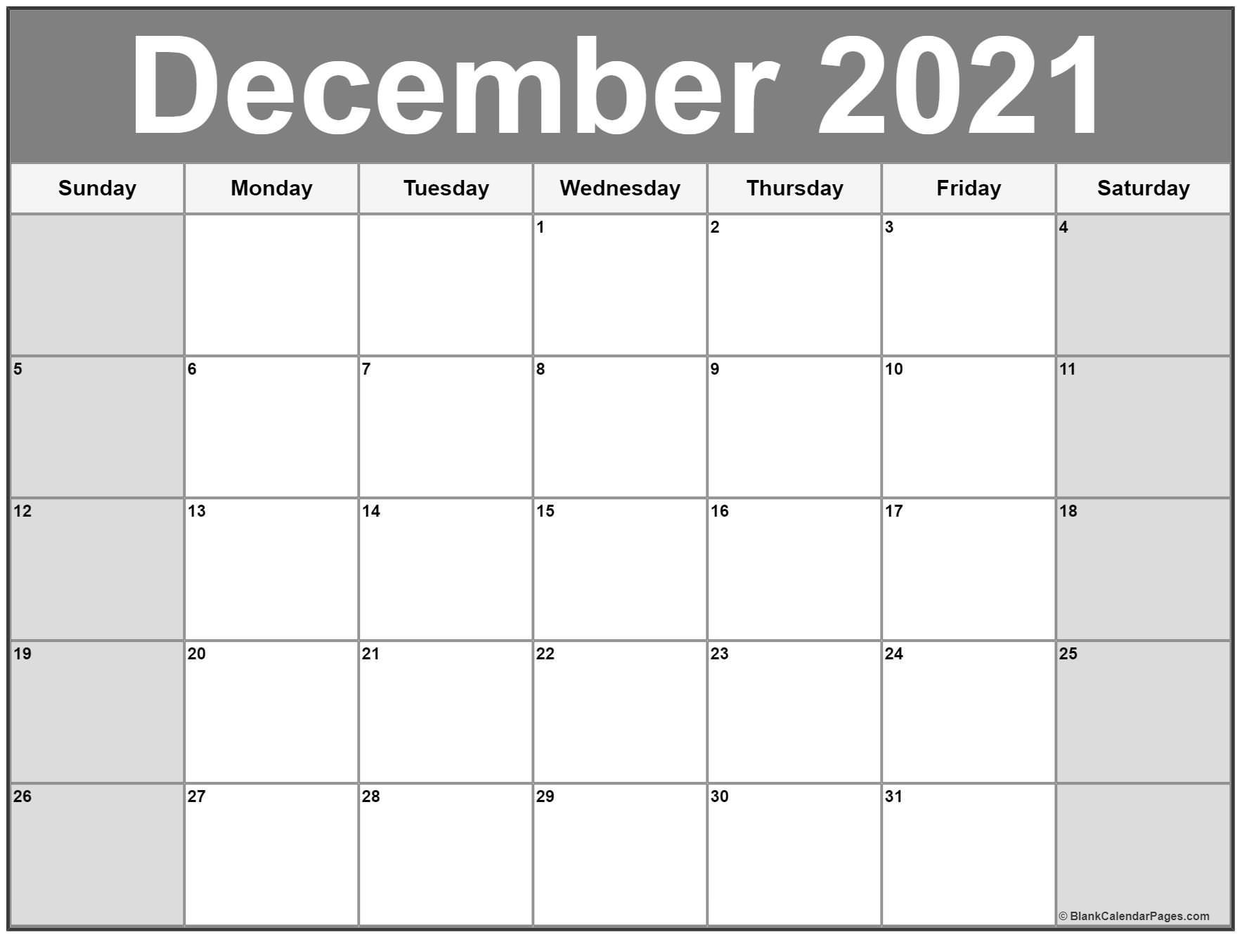 December 2021 Calendar   56+ Templates Of 2021 Printable December Calendar Of 2021