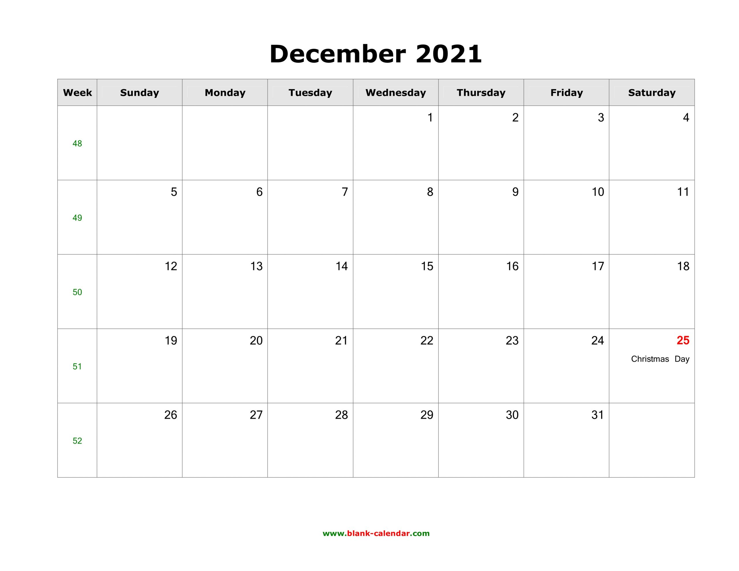 December 2021 Calendar With Holidays Usa   Printable March December Calendar Of 2021