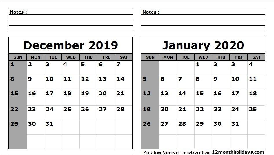 December 2021 January 2020 Calendar With Holidays December 2020 And Jan 2021 Calendar