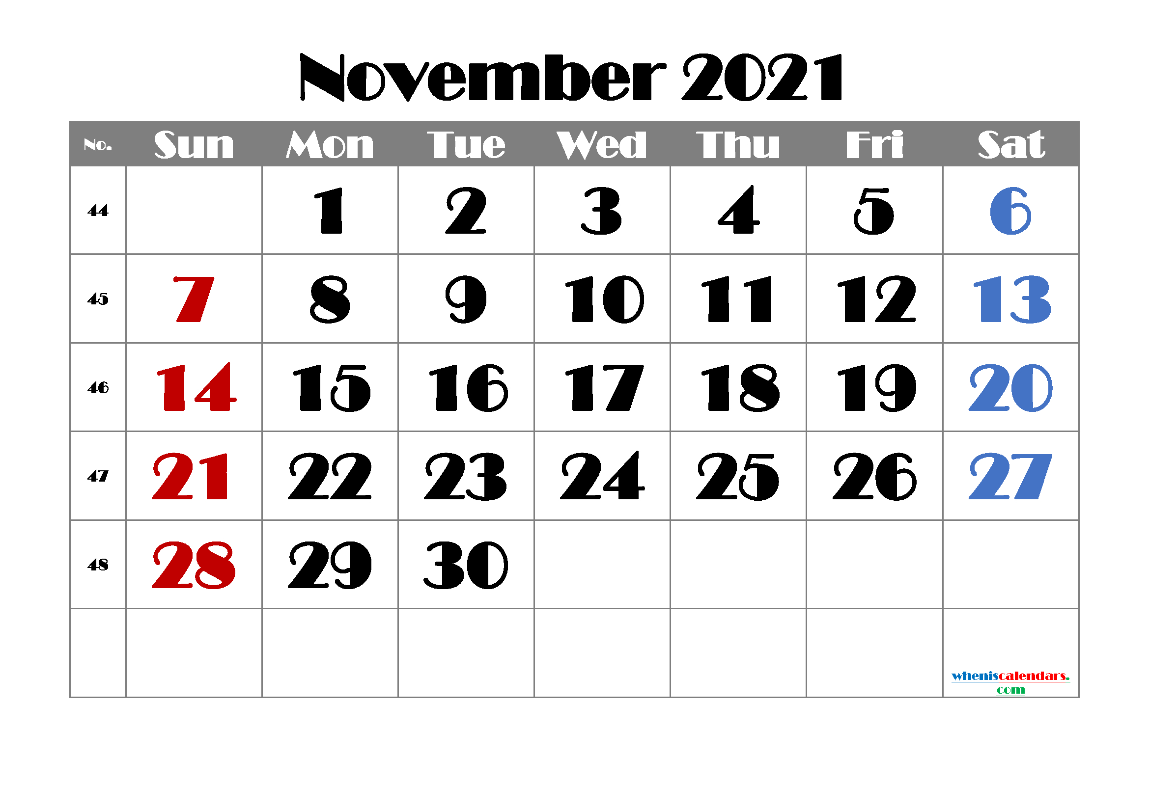 Free Printable November 2021 Calendar   Template M21Broadway1 November 2021 Calendar To Print