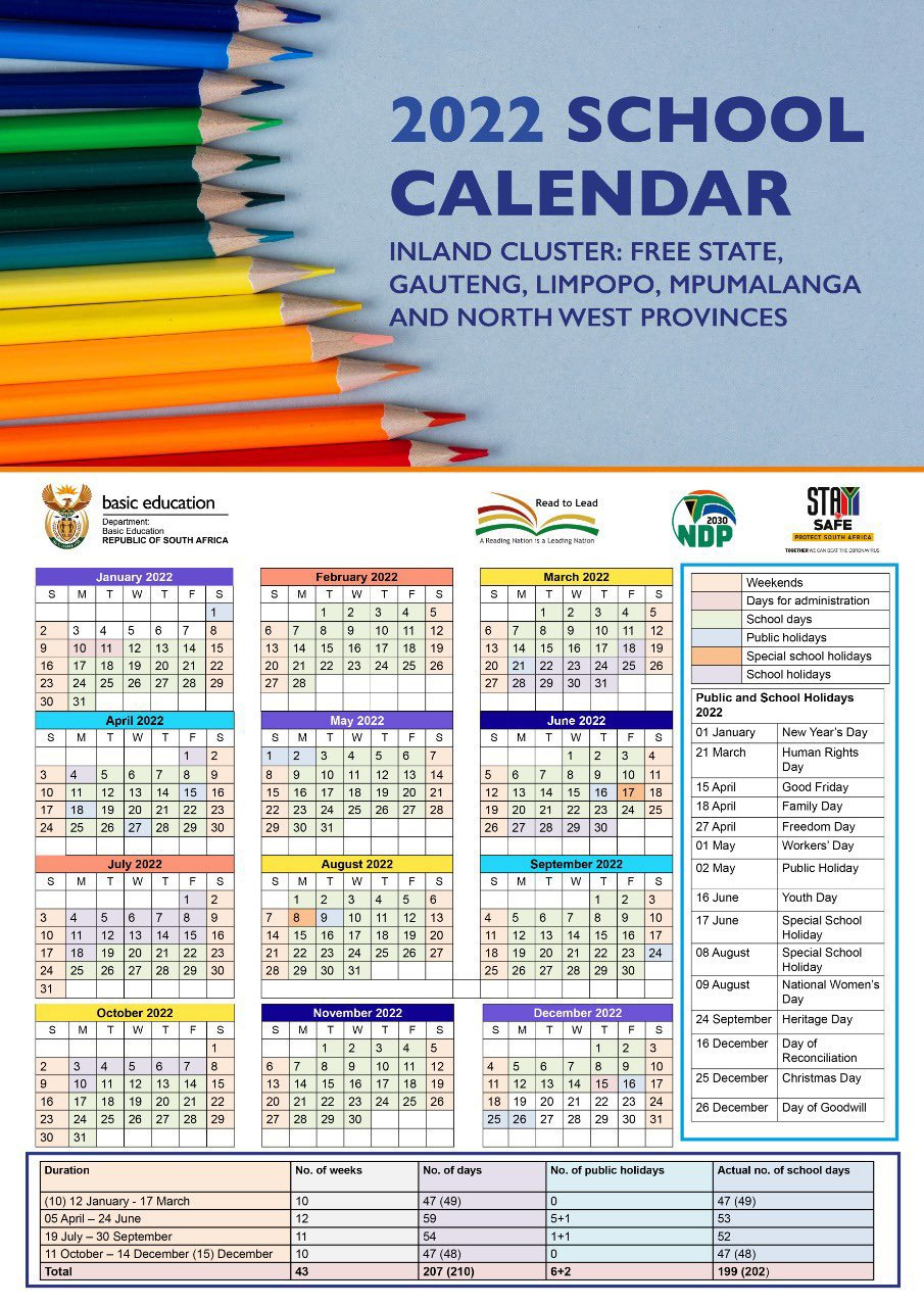 Here Are South Africa'S New School Calendars December 2021 Calendar With Holidays South Africa