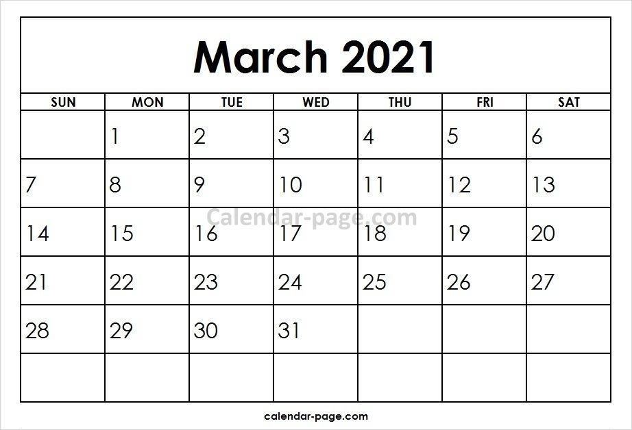 March 2021 Printable Calendar Template   Calvert Giving Show December 2021 Calendar