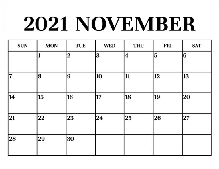 November Calendar 2021 Australia Thanksgiving Holidays 2021 Ka Calendar November